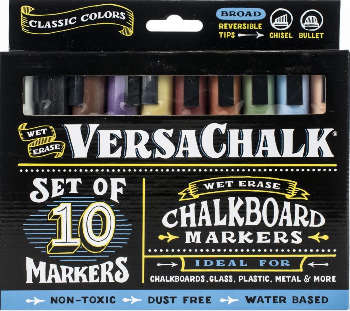 VersaChalk- Liquid Chalkboard Markers - bold- 10 stuks - Gekleurd