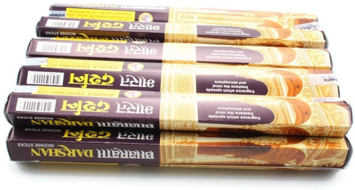 Foto van Bharath Darshan wierook, 12 pakjes, 20 stokjes per pakje