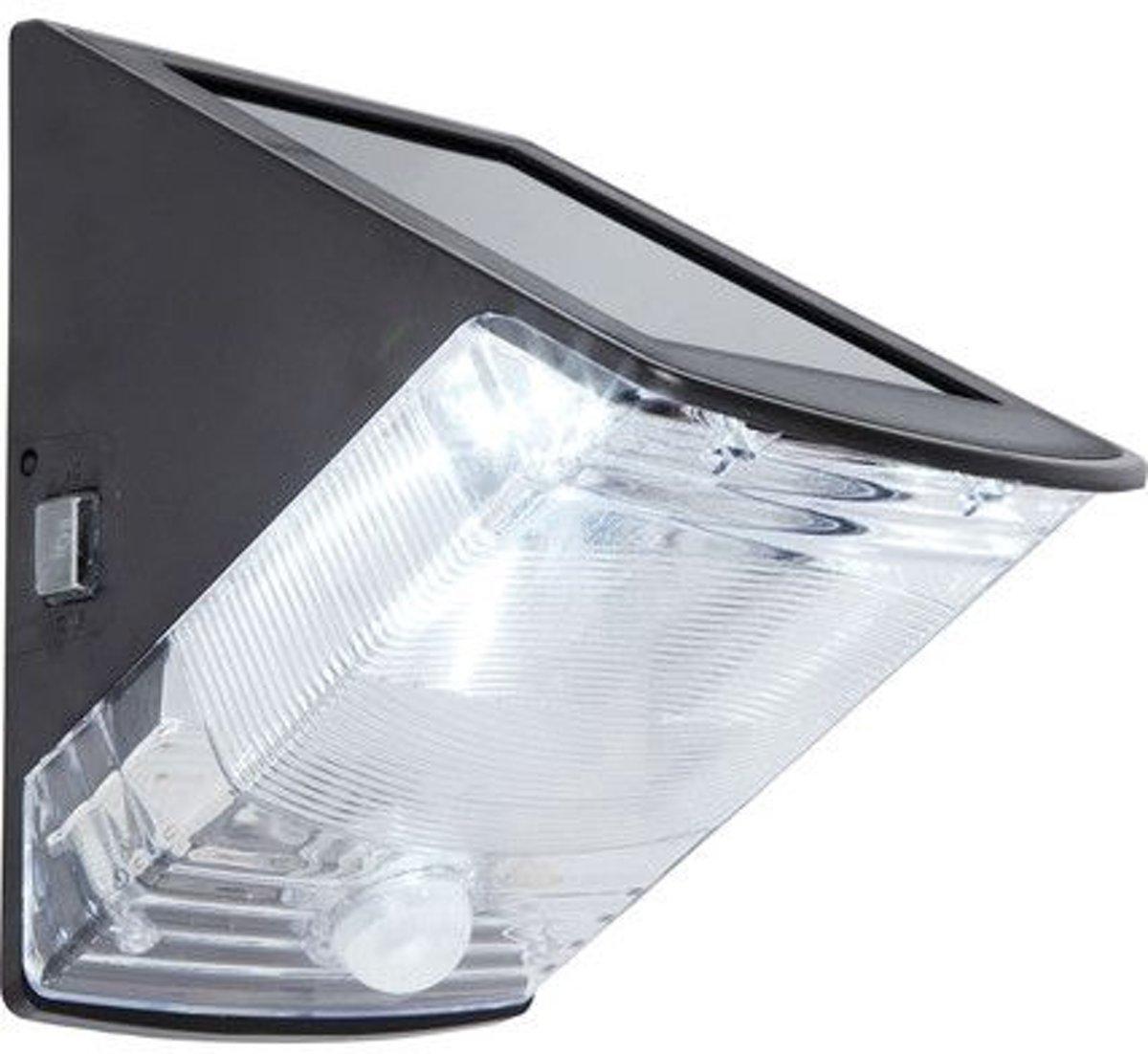 Solar wandlamp Triangle met bewegingsmelder buitenlamp op zonne energie voor €21,41 dmv code