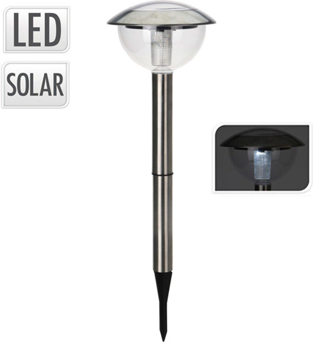 Progarden Solar RVS Tuinlamp op Zonne Energie – 51x16x5cm | Verlichting voor in de Tuin | Lichten Buiten met Zonnepaneel | Tuinlampen van Roestvrij Staal op Zonne Energie kopen