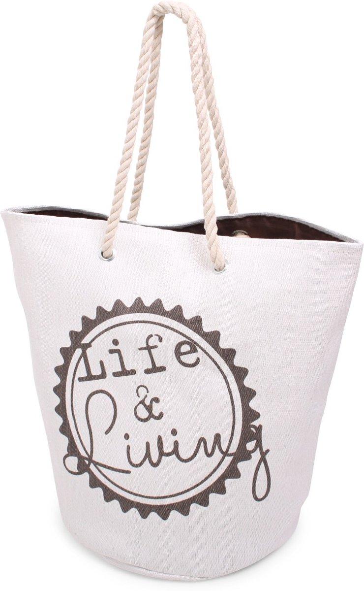 Paperbag Life @ living Grijs/ wit kopen
