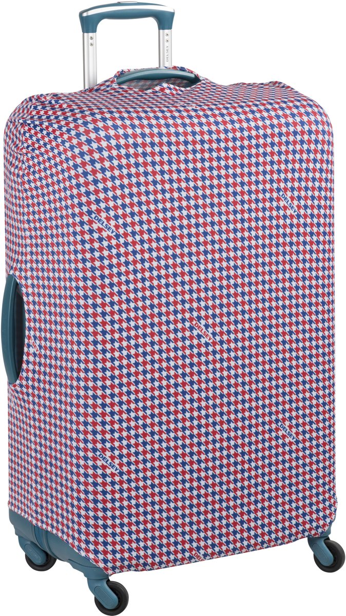 Delsey Expandable - Kofferhoes - maat S/M - Rood/Wit/Blauw kopen