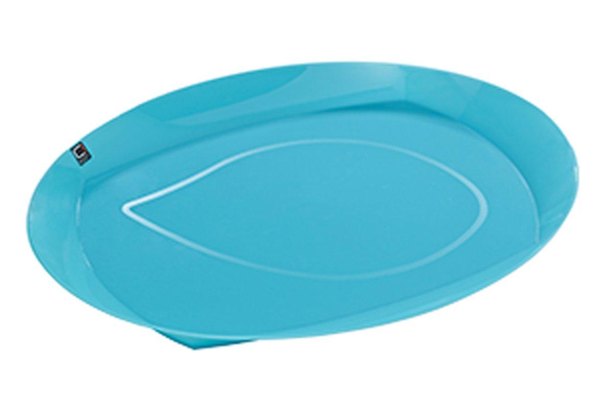 Cuisine-C Viva Summer Dienblad - 44 cm x 33 cm x 7 cm - Ovaal - Turquoise