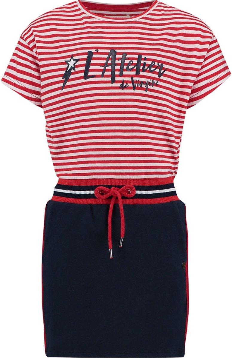 Vingino Meisjes Jurk - Red Lollipop - Maat 128 kopen