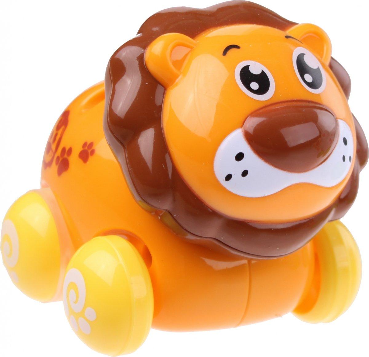 Kids Fun Babyleeuw Op Wielen Oranje/bruin kopen