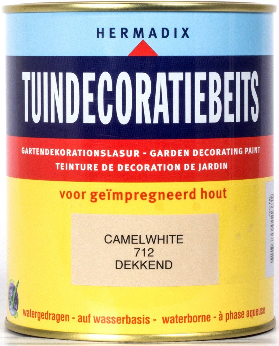 Hermadix Tuindecoratiebeits dekkend 712 Camel White - 0,75 l