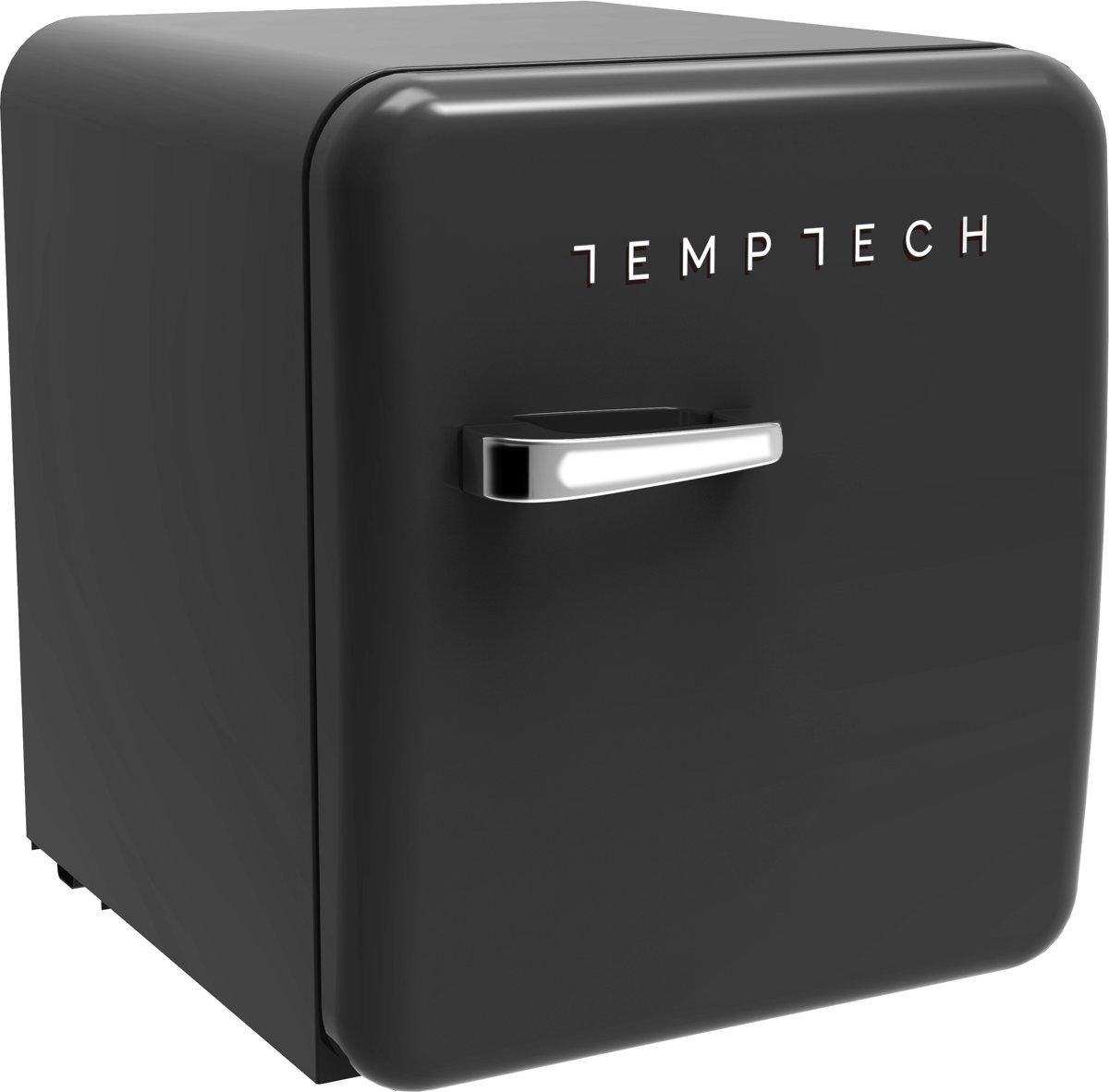 Temptech HRF46RMB- 46 liter retro koelkast, mat zwart kopen