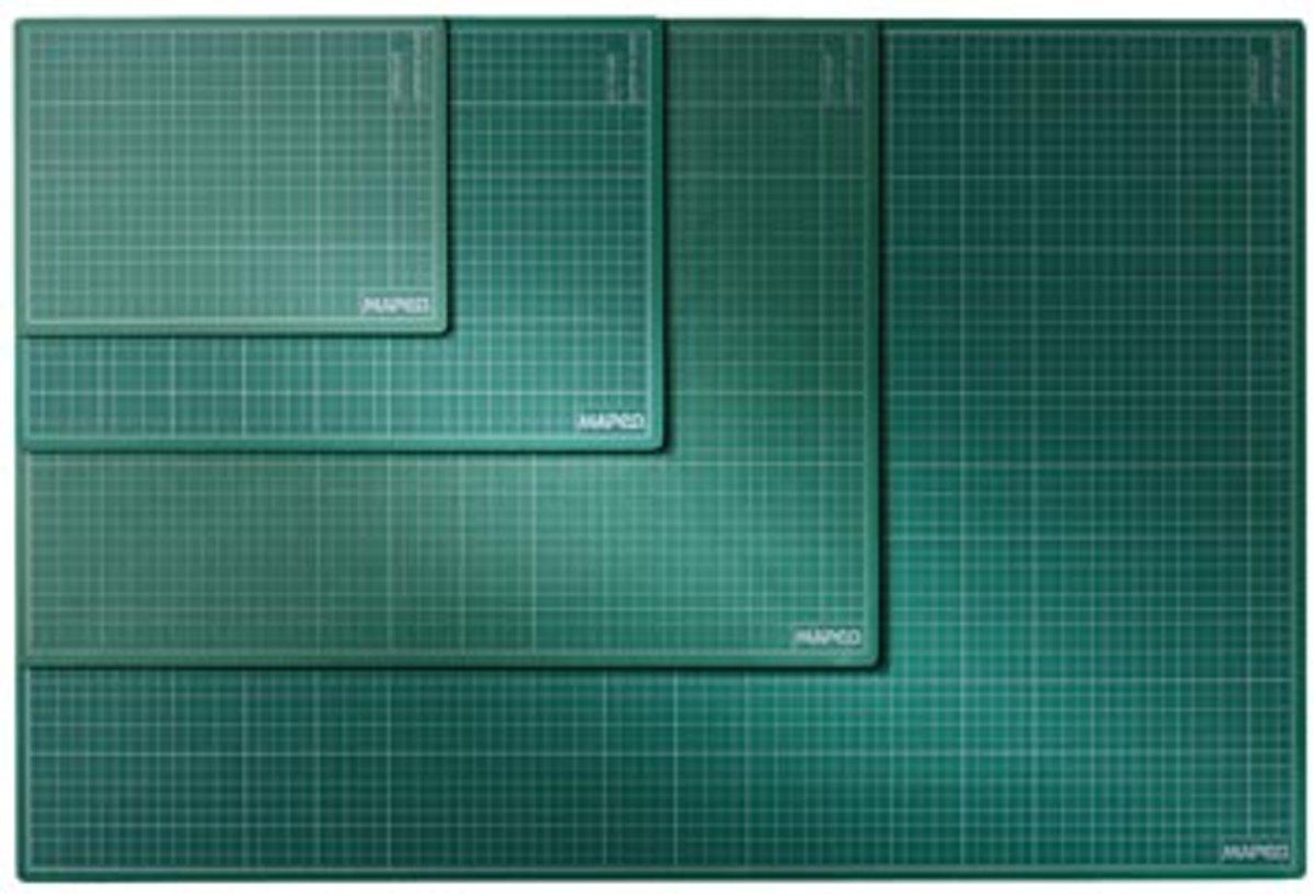 Snijmat A2 formaat (450 mm x 600 mm) - groen kopen