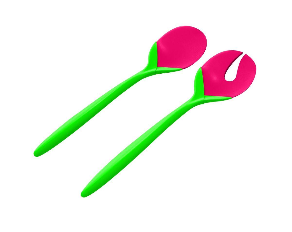 Zak!Designs Kitchen & Garden Saladebestek - Tulip - 28 cm - Watermelon Green/ gr