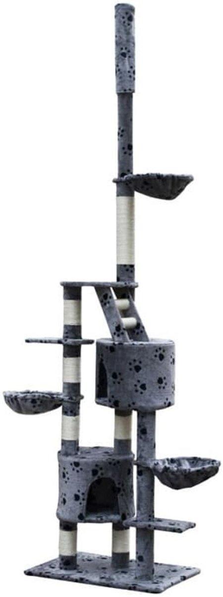 vidaXL - Luna XL Krabpaal - Grijs - 45 x 69 x 260 cm