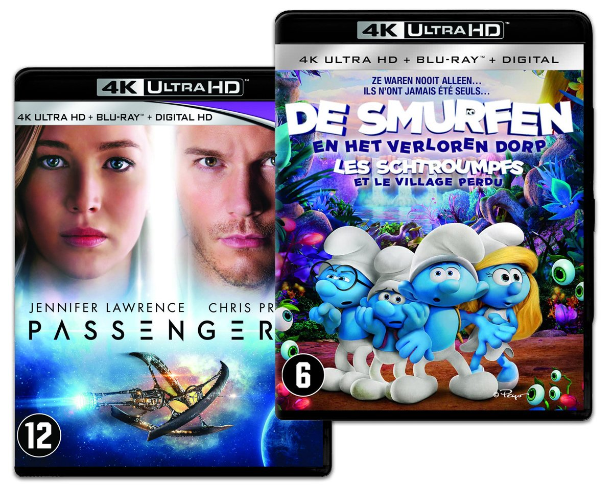Passengers & De Smufen En Het Verloren Dorp (4K Ultra HD Blu-ray)-