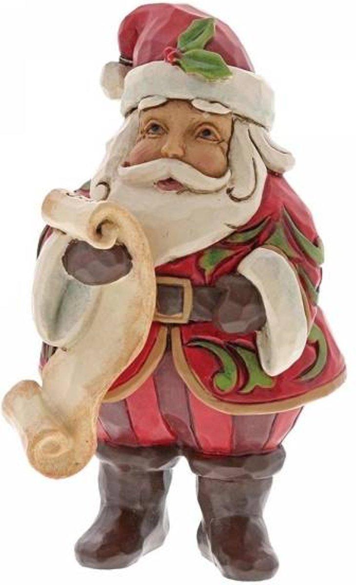 Jim Shore: Mini kerstman met lijst Beelden & Figuren kopen