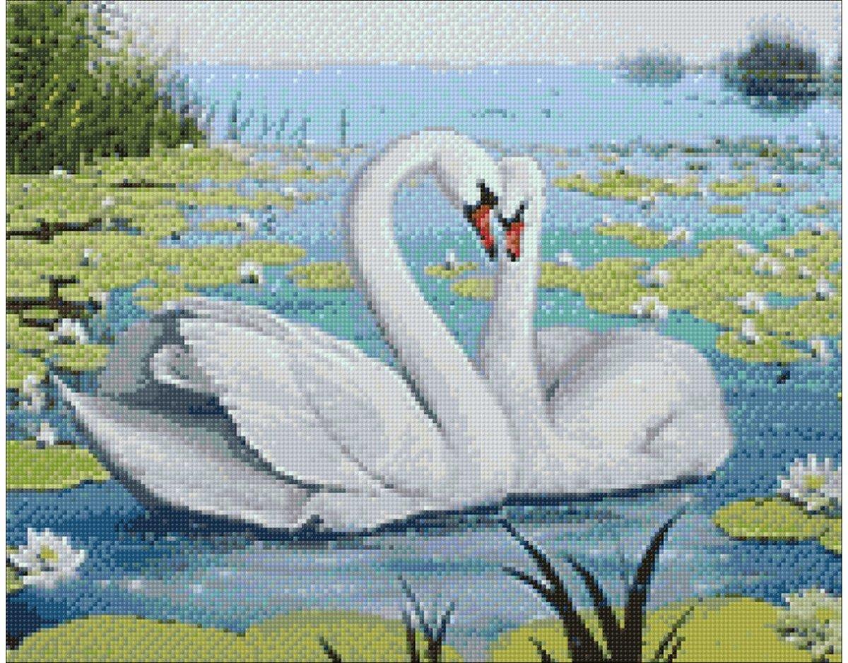 Afbeelding van product Wizardi Diamond Painting Kit Swan Song WD239