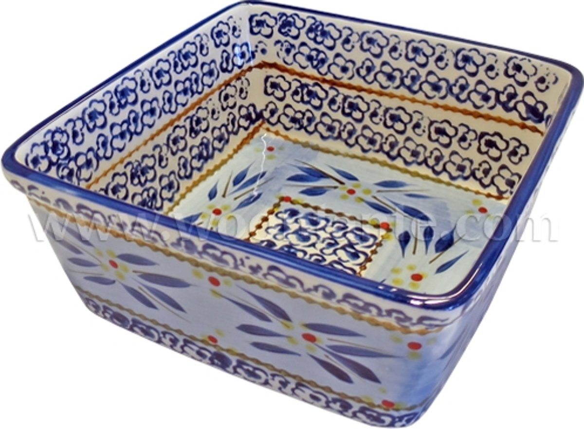 Lavandoux - Ovenschaal - Vierkant - 17 cm - Old World Blue kopen