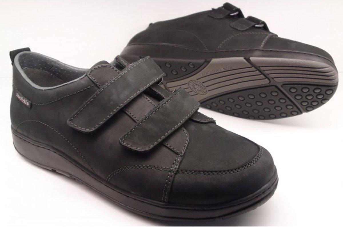 Mobils by Mephisto BERIZIO nubuck heren wandelschoen zwart *EXTRA BREED*