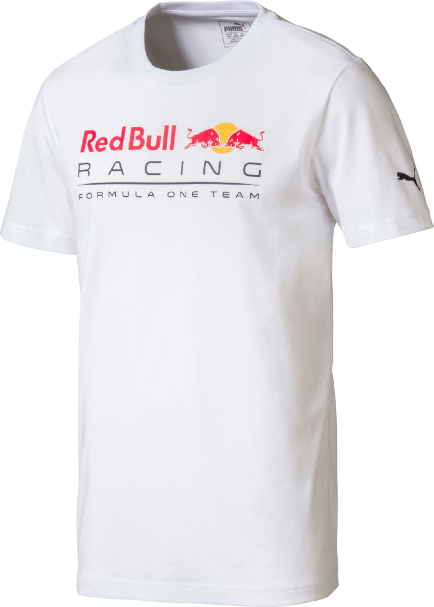 PUMA Red Bull Racing Logo Tee Shirt Heren - Puma White