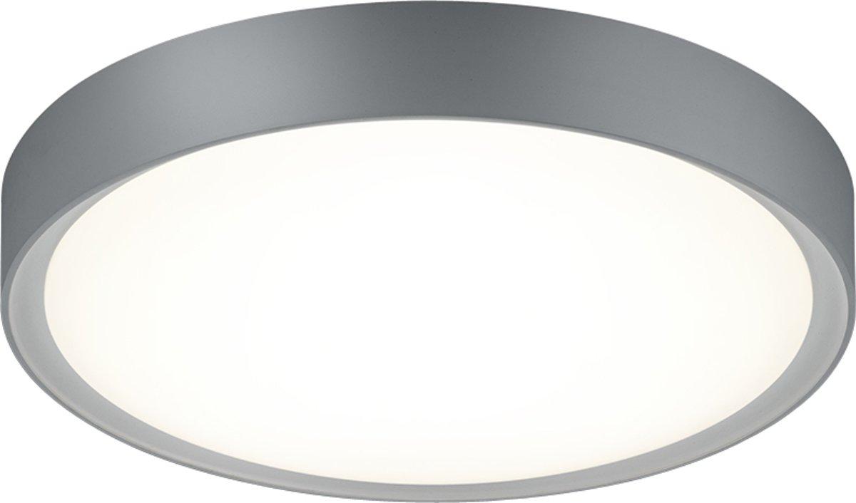 TRIO, Plafonniere, Clarimo incl. 1 x LED,SMD,18,0 Watt,3000K,1600 Lm. Acryl, Wit, Armatuur: Kunststof, Titaan Ø:33,0cm, H:9,0cm IP44 kopen