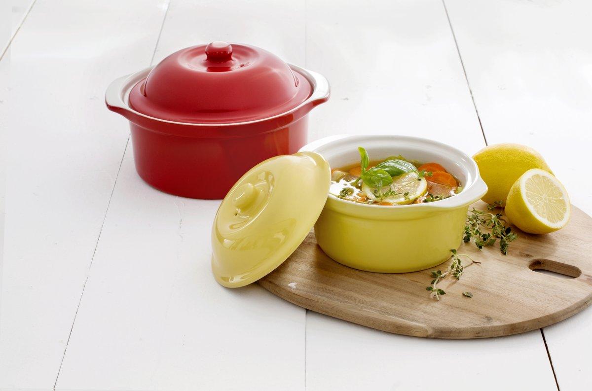 Mama Cucina Round Bowl - incl. Deksel - 0,75 Liter - Geel kopen
