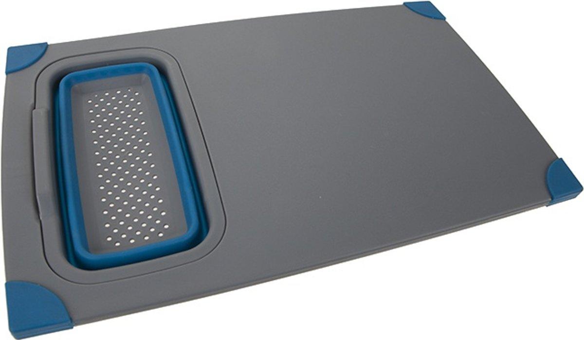 Summit Snijplank Met Bakje Grijs/blauw 37 X 23 Cm kopen