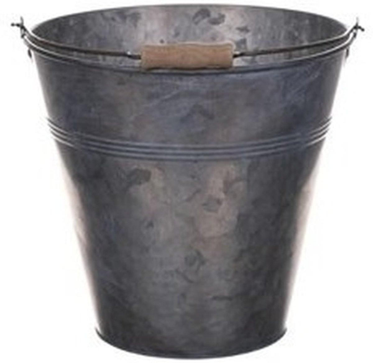 Metalen emmer grijs 3 liter kopen