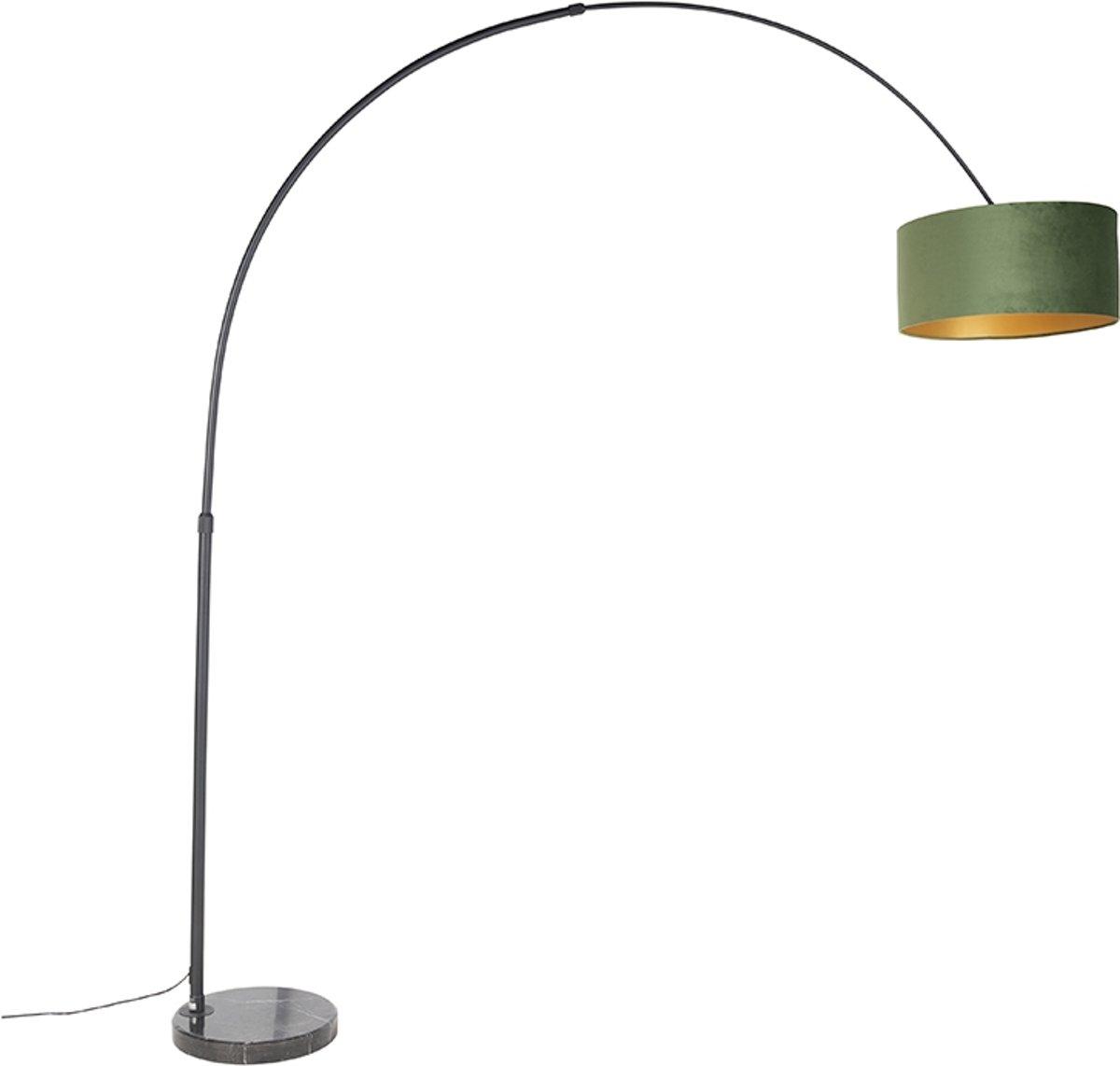 QAZQA xxl fl - Vloerlamp met lampenkap - 1 lichts - H 2250 mm - Groen kopen