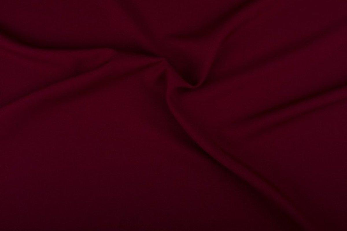 Afbeelding van product Texture/Polyester stof - Bordeaux rood - 10 meter