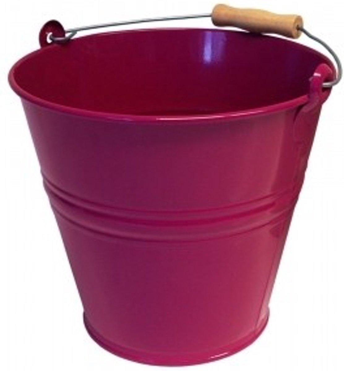 Metaal Emmer Fuchsia 8 liter kopen