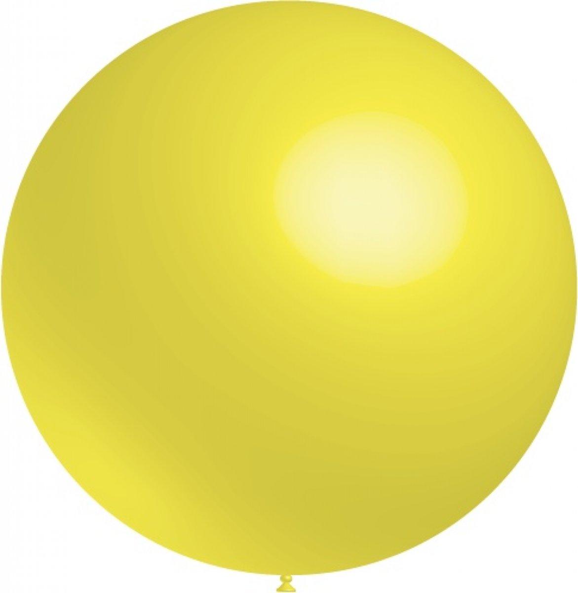 Lichtgele Reuze Ballon XL 91cm