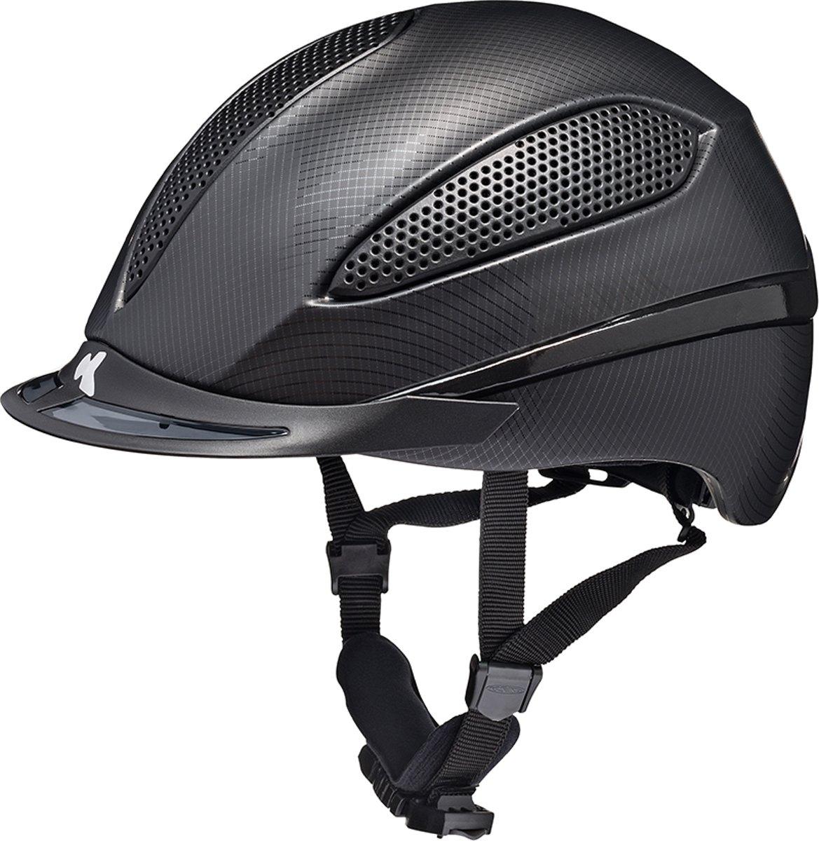Paso L black mesh KED  cap met hoofdomtrek: 57-62 cm