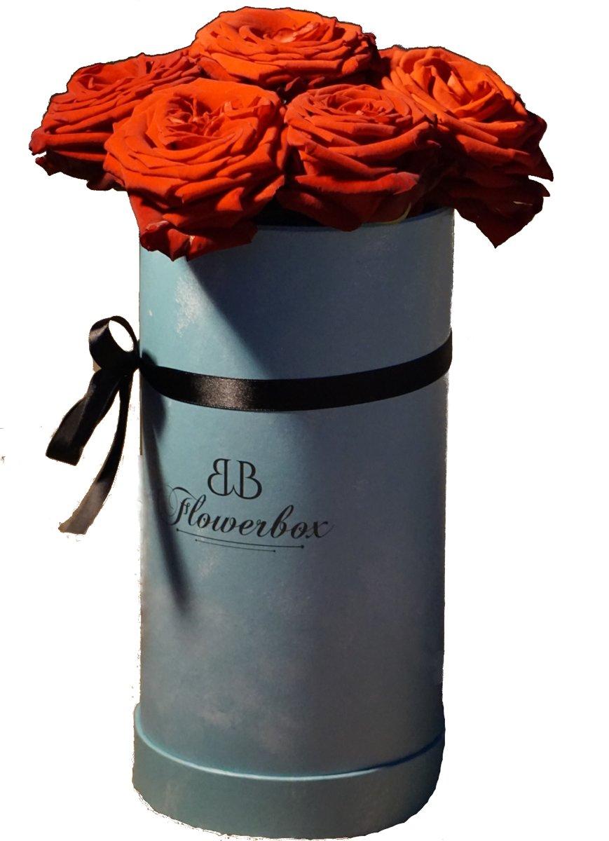 Moederdag Flowerbox met rode rozen