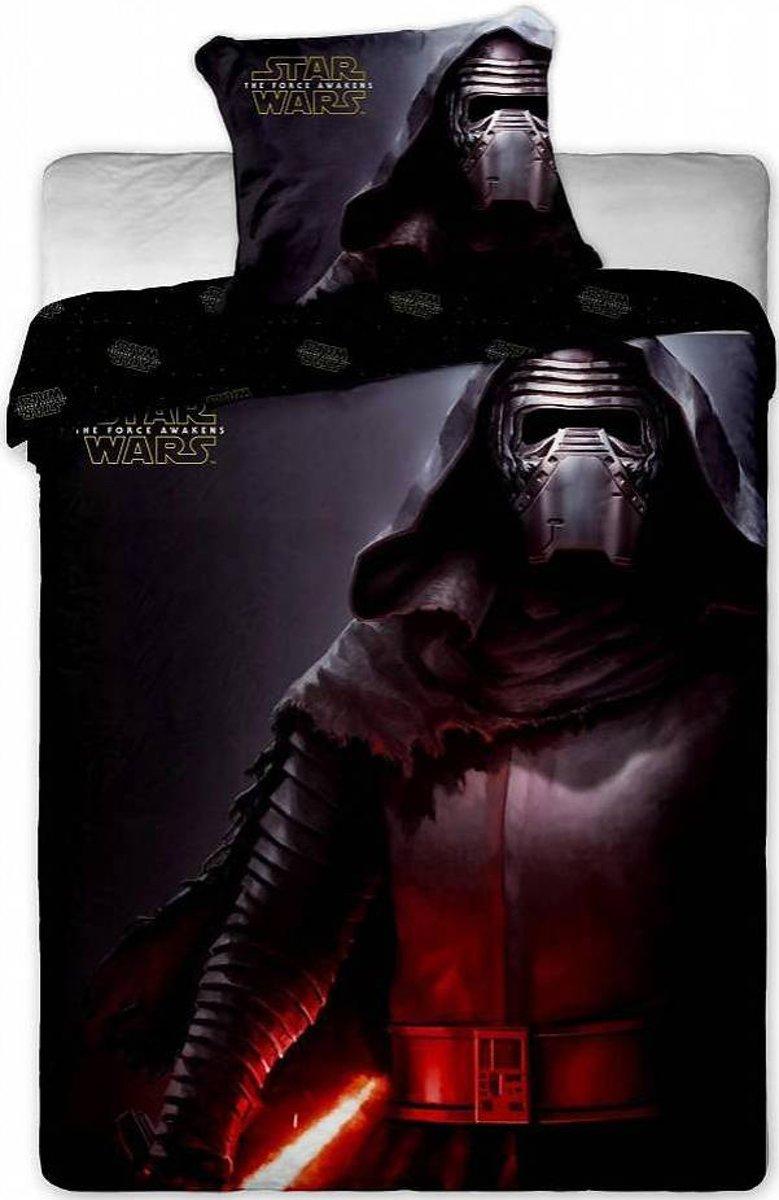 Star Wars Kylo Ren Black - Dekbedovertrek - Eenpersoons - 140 x 200 cm - Zwart kopen