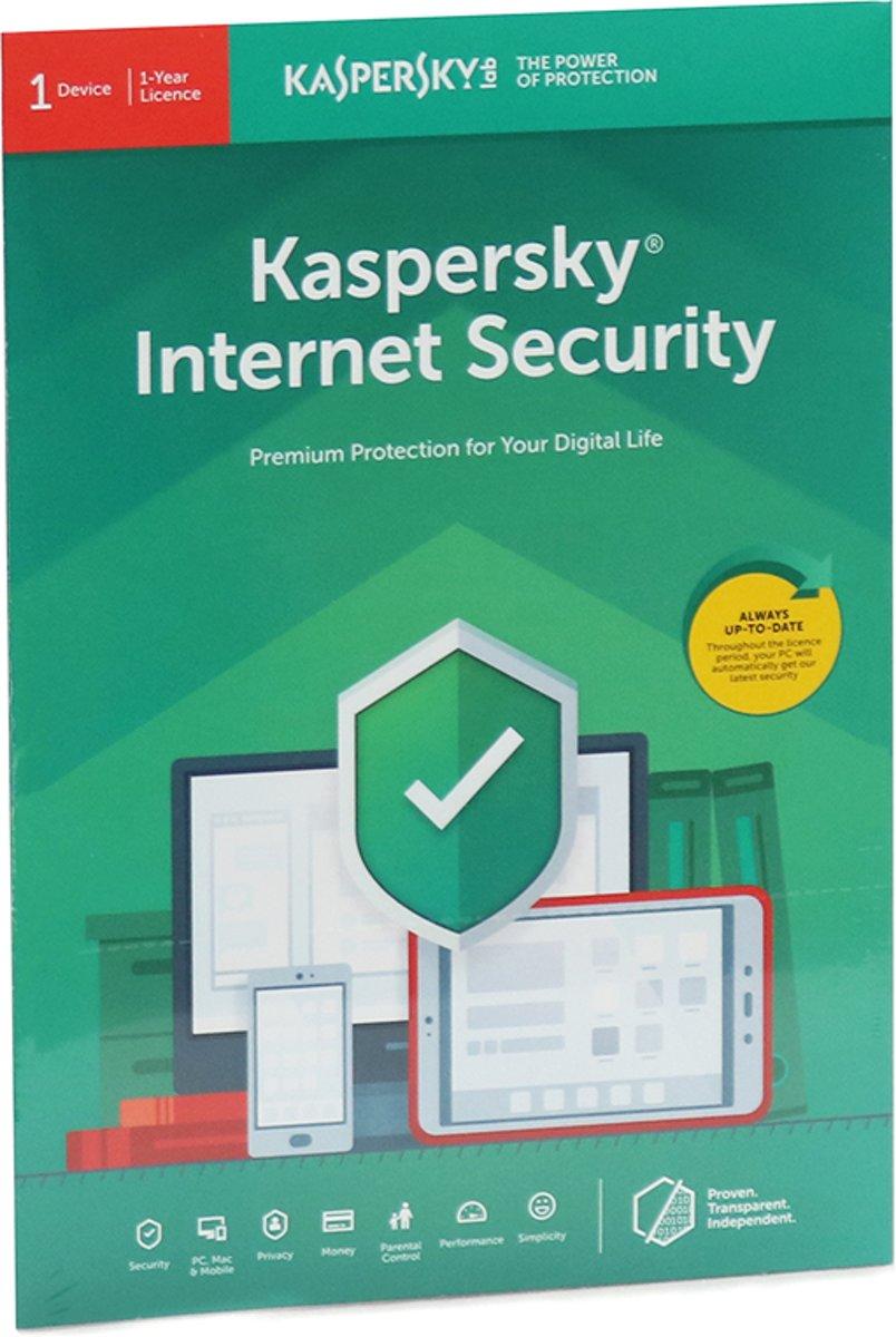 Kaspersky Internet Security | 1 Apparaat | 1 Jaar | Engelse verpakking | Alle Europese talen kopen
