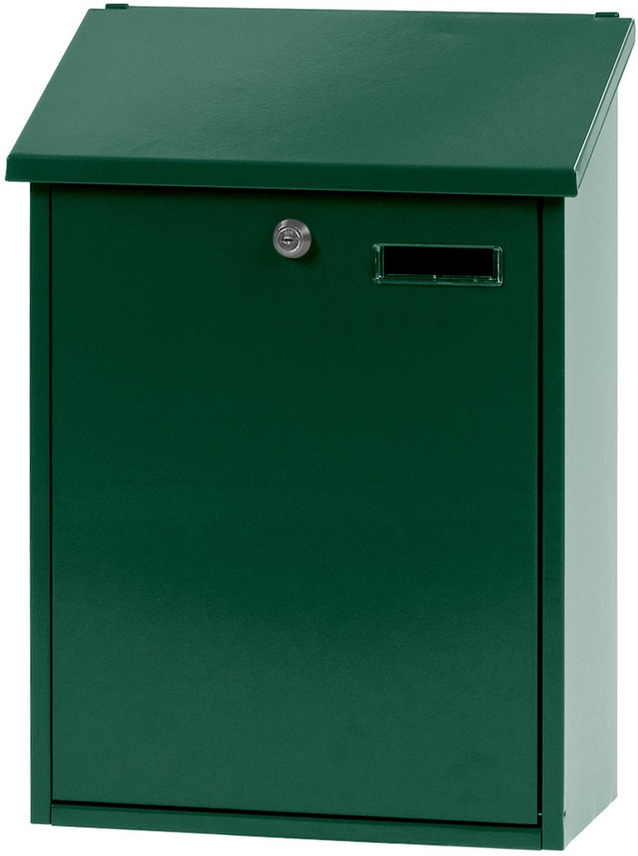 Stalen brievenbus groen - 32,5x16x44,5 cm
