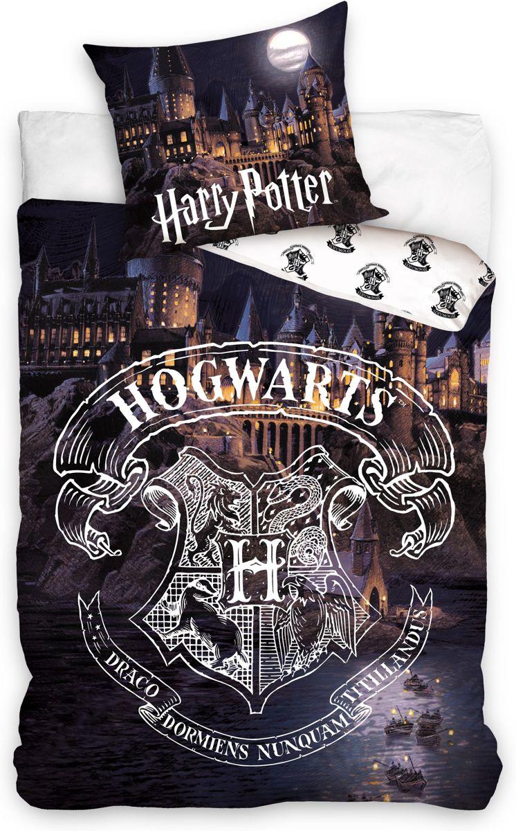 Harry Potter Hogwarts éénpersoons dekbedovertrek 140 x 200 cm kopen
