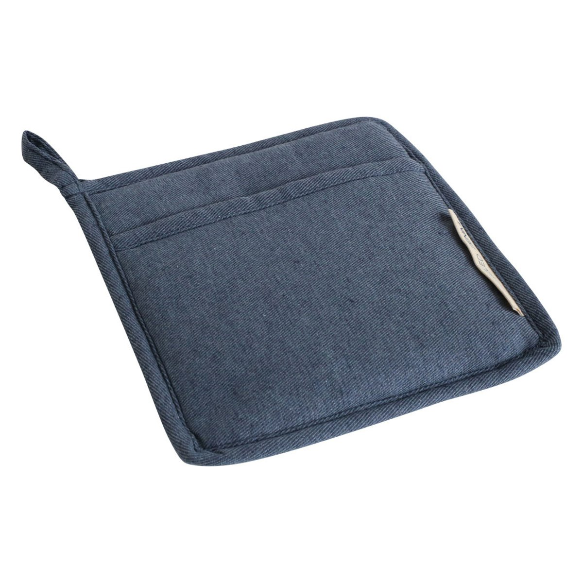 Upcycled Denim Pannenlap - Onderzetter - 21,5x21,5 - Donker blauw kopen