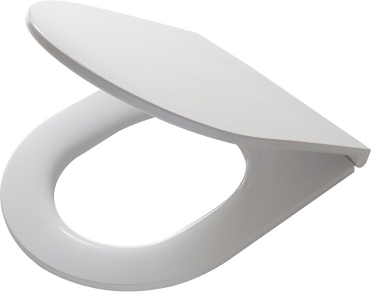 Tiger Elvas wc-bril met D-vorm - Softclose - Duroplast - Afklikbaar - Wit kopen