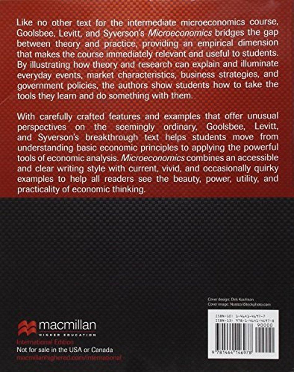 Bol Microeconomics Palgrave Version 9781464146978 Austan