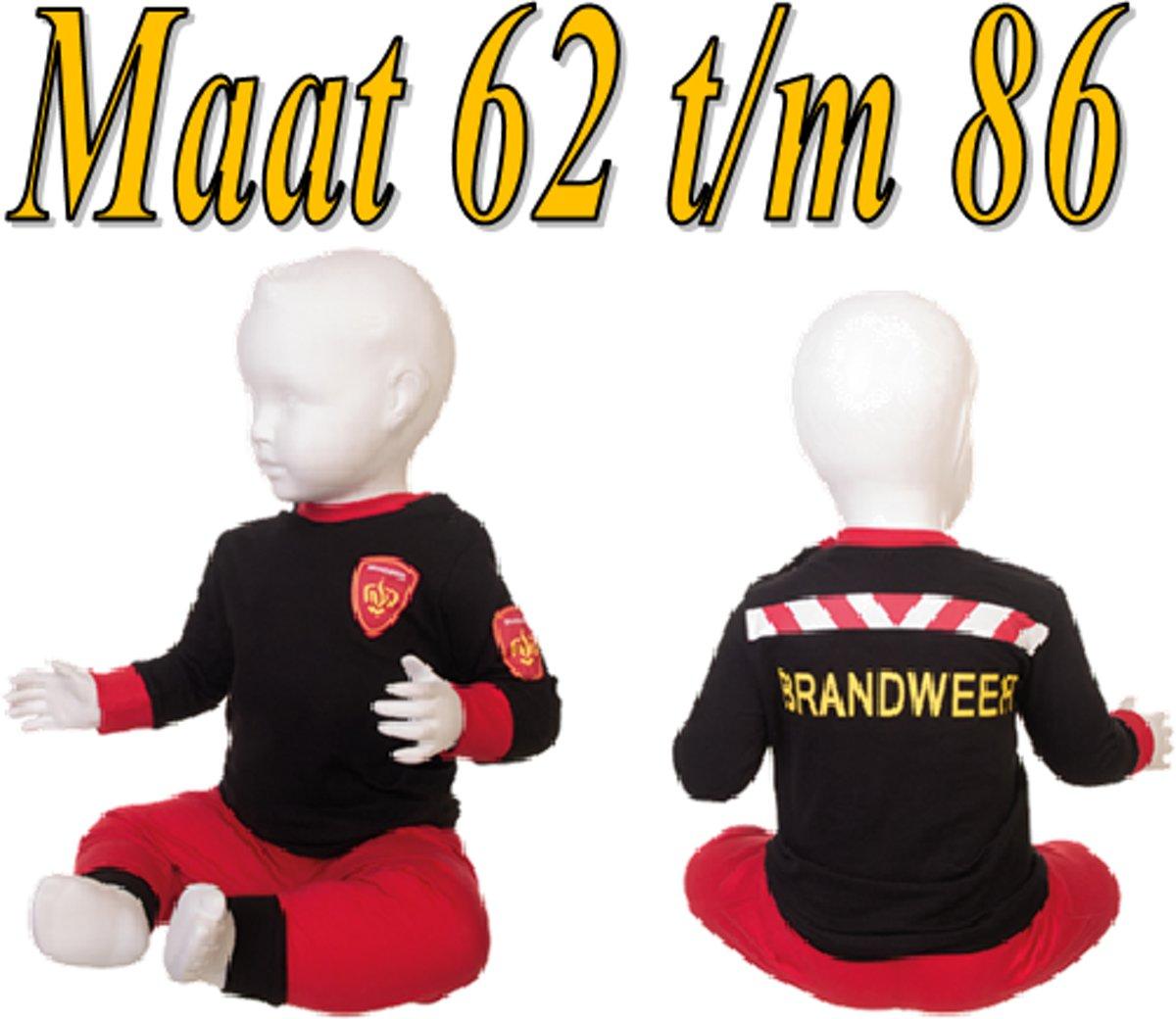 Fun2Wear Brandweer Pyjama Rood maat 62 kopen