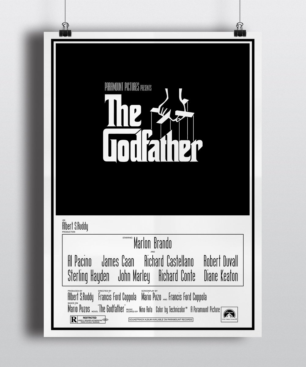 Poster film The Godfather 1972 kopen