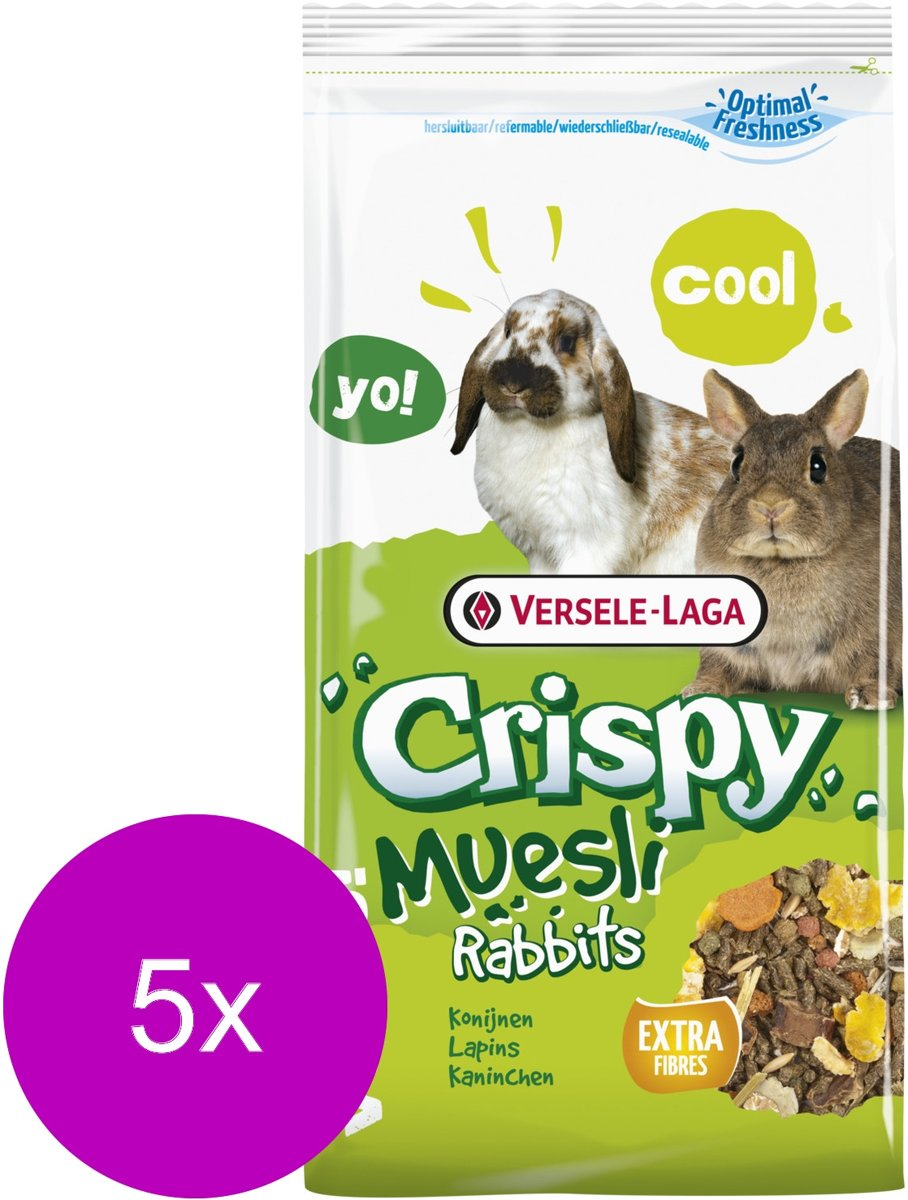 Versele-Laga Crispy Muesli Konijnen - Konijnenvoer - 5 x 400 g