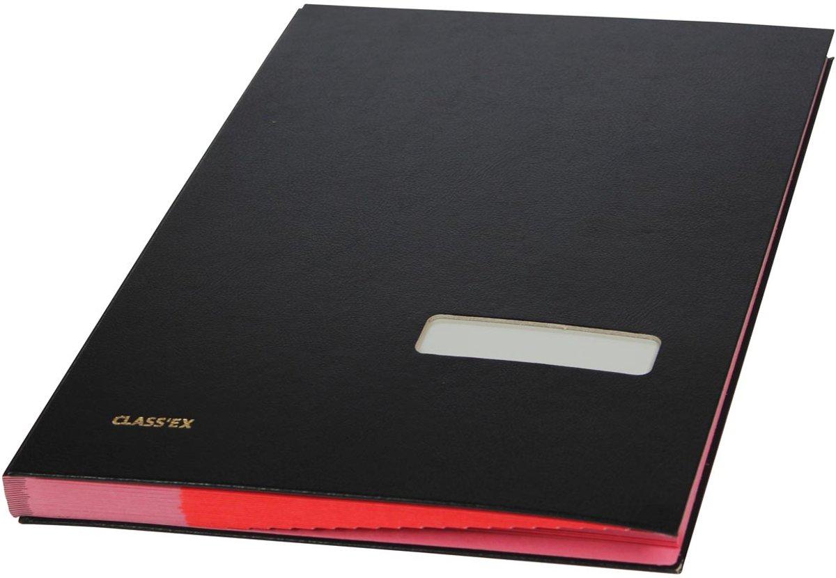 3x Class'ex handtekenmap zwart kopen
