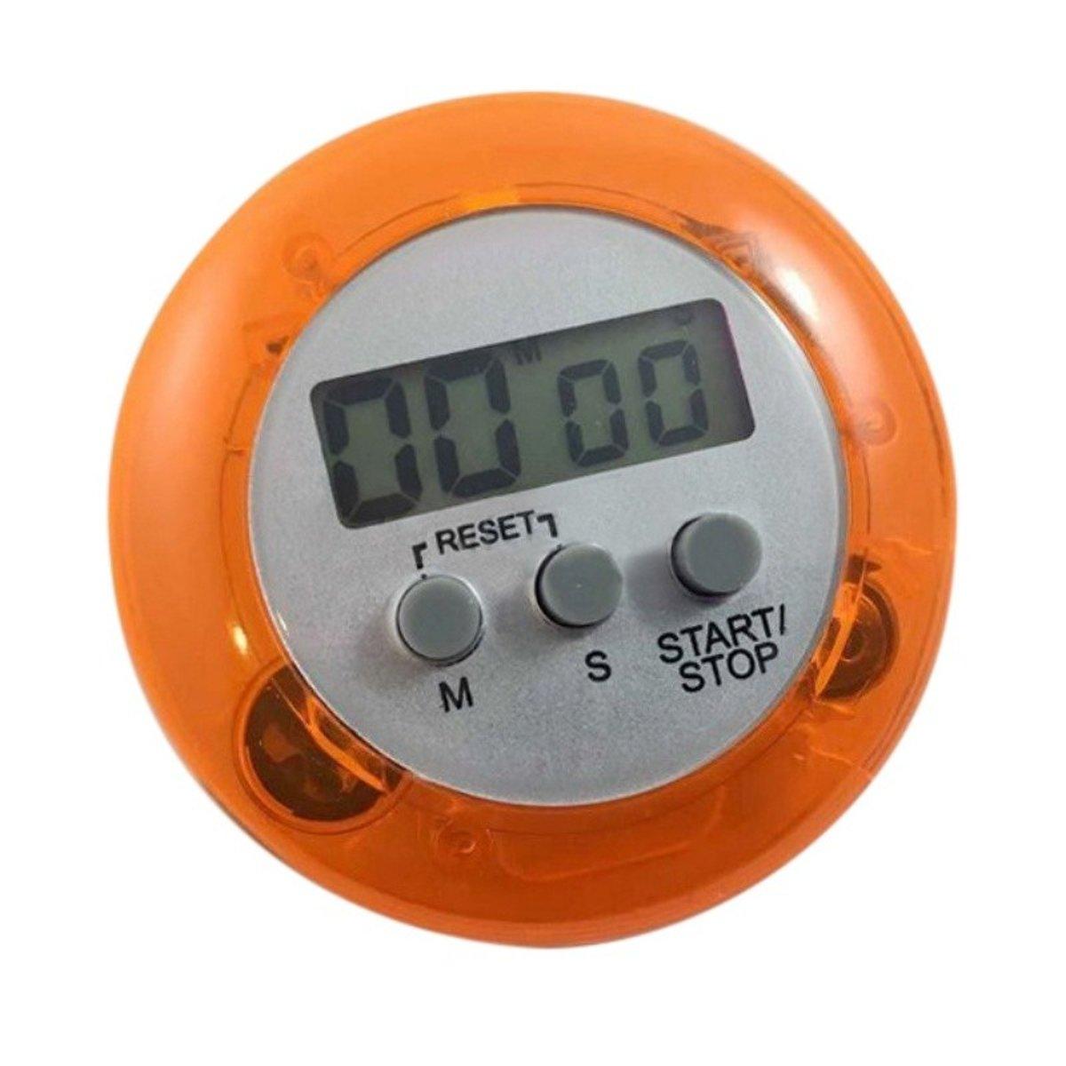 Digitale ronde lcd eierwekker-kookwekker oranje kopen