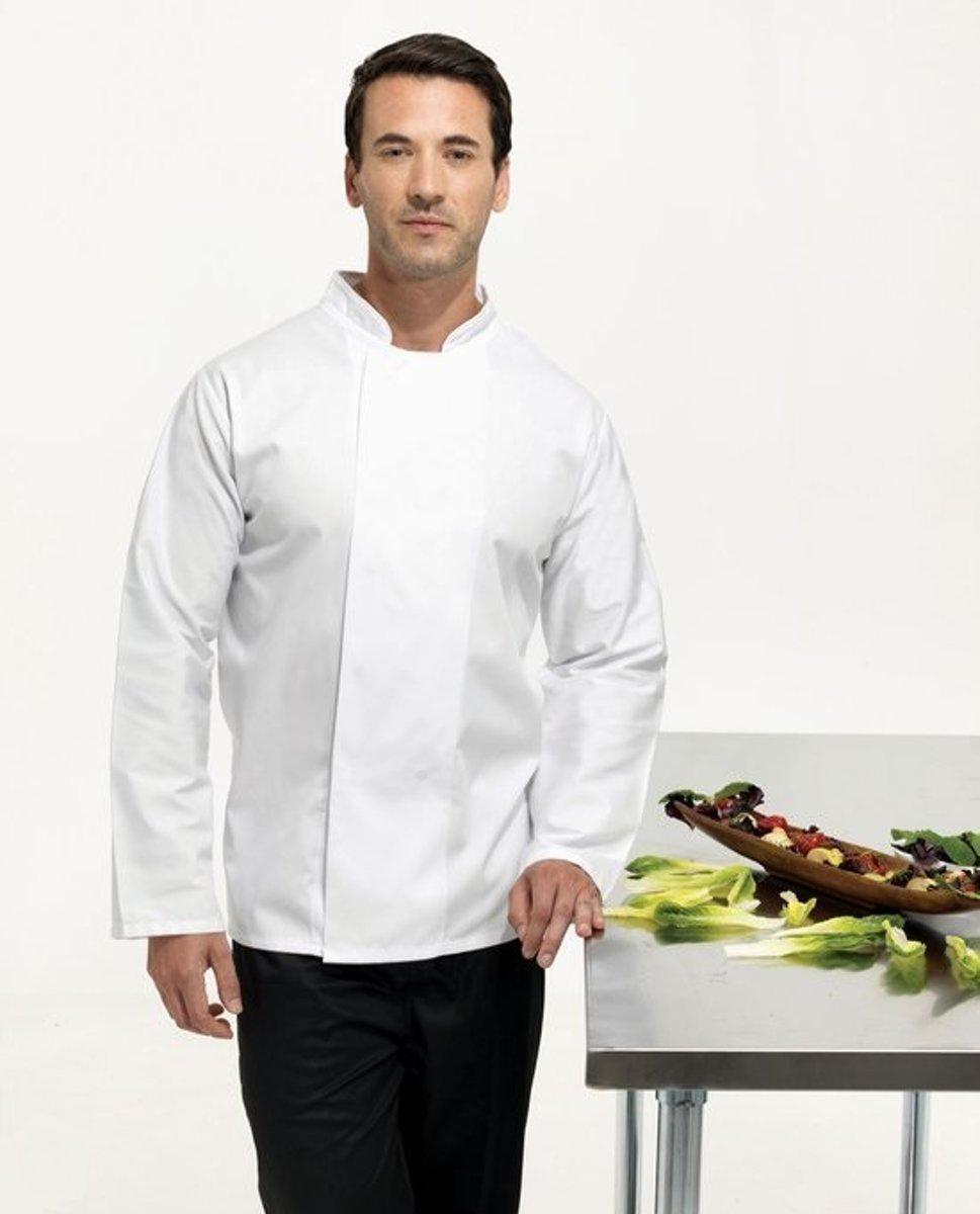 Premier Coolmax l/s chef's jacket, Kleur Wit, Maat S kopen