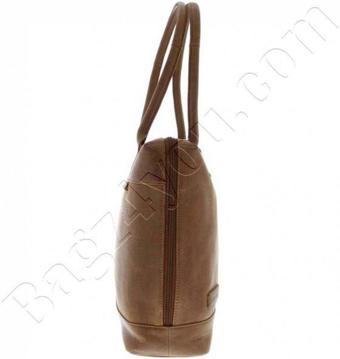 7da1f30f845 bol.com | Plevier Business/laptoptas dames volnerf rundleer 1-vaks 15.6  Cognac 475