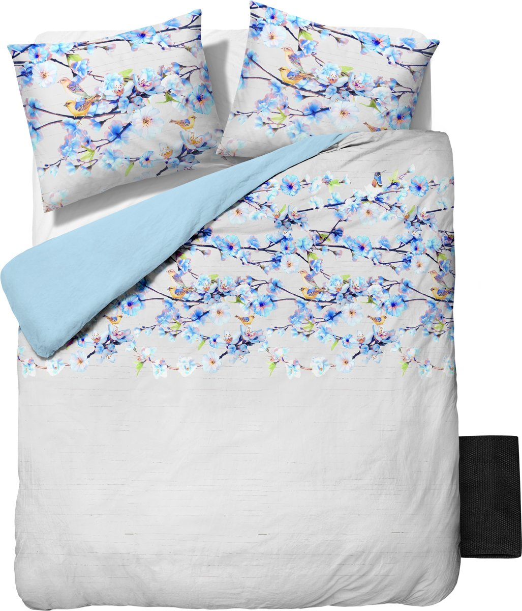 Sleeptime Katoen Marrelly - Dekbedovertrekset - Lits-Jumeaux - 240x200/220 cm + 2 kussenslopen 60x70 cm - Turquoise kopen