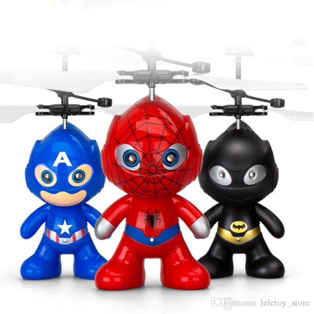 Super Hero Helli \SPIDERMAN - CAPTAIN inductie vliegt via de hand GRATIS VERZENDING