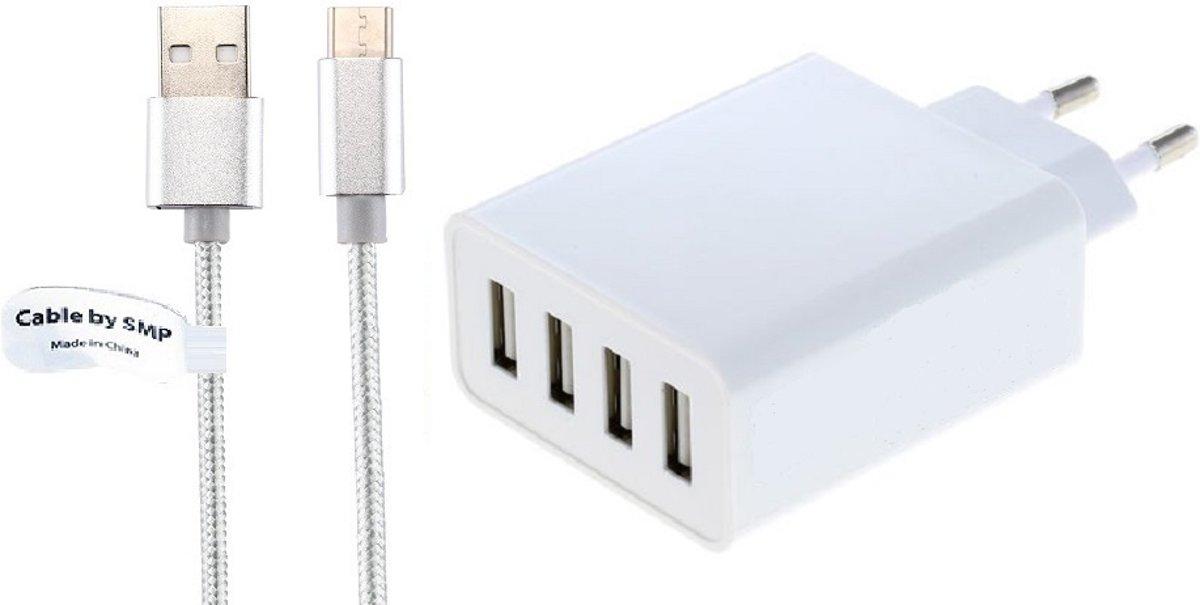 4,8A oplader en laadkabel. 2 m Oplaadsnoer met adapter stekker Past ook op Allview. o.a. Wi10N, Wi10N PRO, WI7, Wi8G, Viva H100 LTE, Viva i8, X4 Soul Xtreme