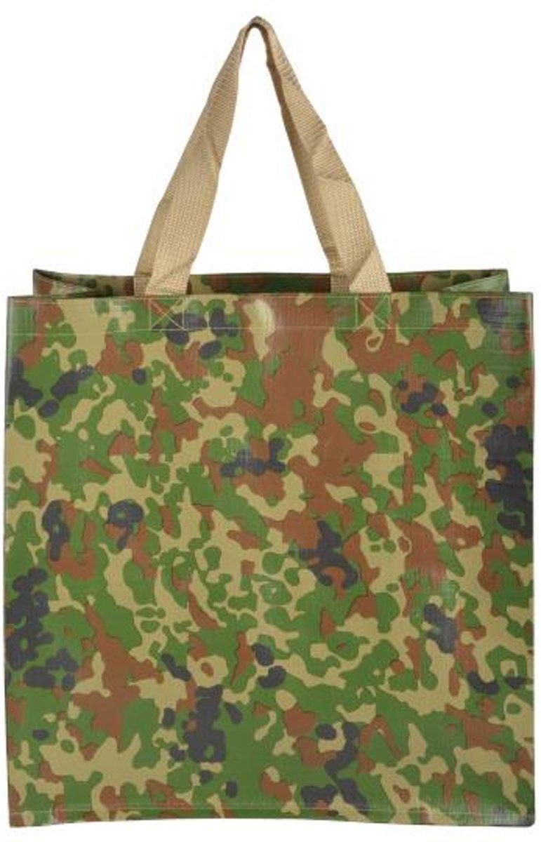 Boodschappentas camouflage - set van 14 stuks kopen