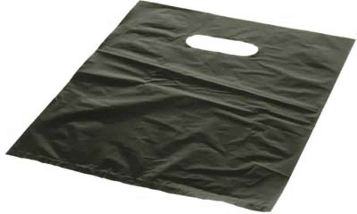 Draagtassen Zwart 40,6x40,6cm PE 18 Micron (100 Stuks) [H1616BK3] kopen