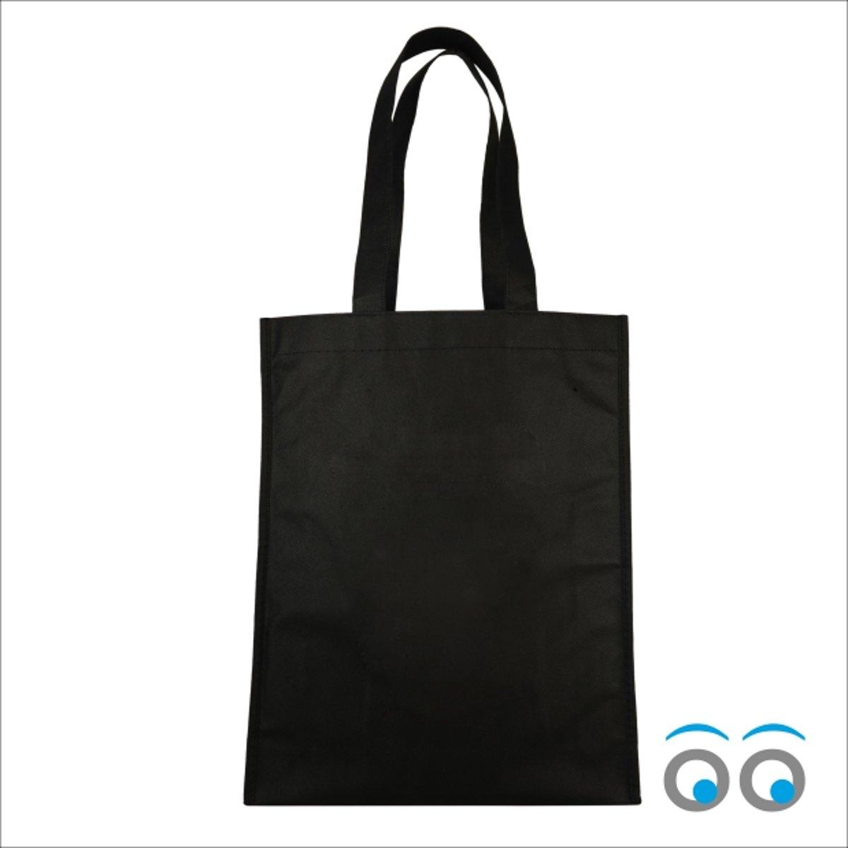 10 stuks katoenen tassen zwart (40 x 32 cm) kopen